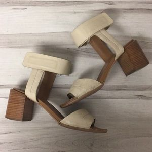 See by Chloe Cream Leather Ankle Strap Sandal 37.5